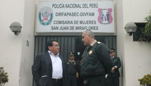 El parlamentario José Luna constató la grave denuncia. (Difusión)