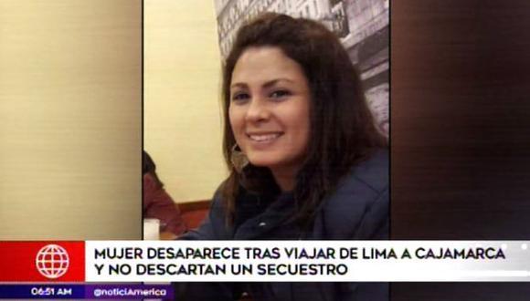 La mujer está desaparecida desde hace 10 días. (Foto: Captura/América Noticias)