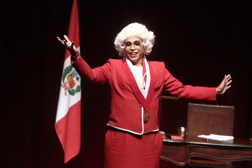 El actor y conductor Ernesto Pimentel interpretará a Perica de los Palotes, la Presidenta del Congreso imaginario. (Créditos: César Campos)