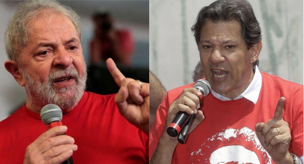 Imposibilitado de competir él mismo en la elección presidencial por su situación judicial, Lula designó a Haddad para sustituirlo el pasado 11 de septiembre. | Foto: (Reuters / EFE)