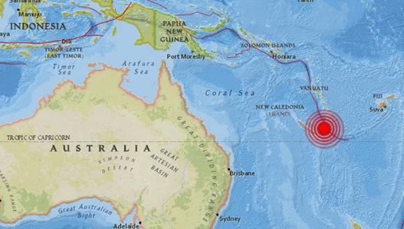 Terremoto en archipiélago del Océano Pacífico.(earthquake.usgs.gov)