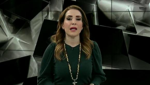 Un video viral muestra el momento en el que una periodista se enfadó y soló una palabrota en plena emisión de su programa. | Crédito: Milenio / Captura de TV.