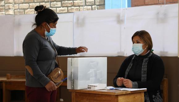 Los electores emitieron su voto sin contratiempos en la I.E. 30173 Virgen del Carmen y en la I.E. Warivilca del distrito de Huayucachi, en la región Junín. (Foto: ONPE)