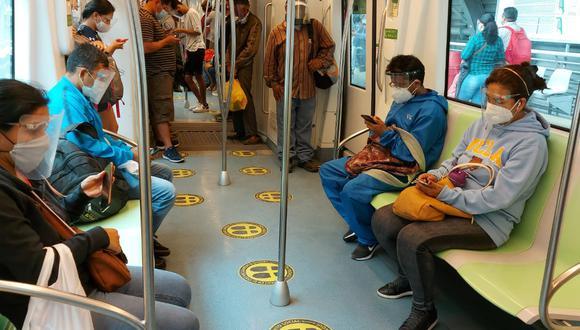 Los pasajeros que hagan uso de los trenes de la Línea 1 deberán cumplir los protocolos para evitar los contagios de COVID-19. (Difusión)