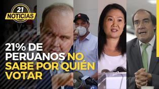 Datum 21% de peruanos no sabe por quién votar