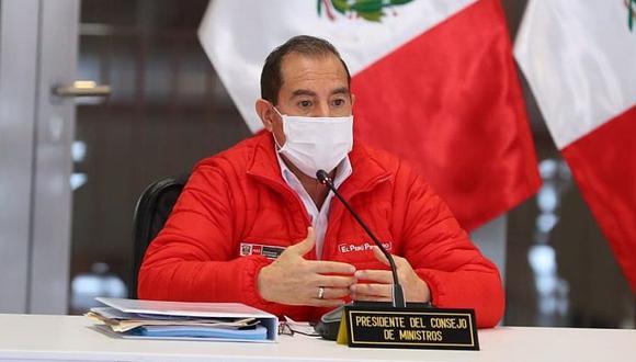 """Walter Martos indicó que los impulsores de la vacancia buscan que """"se posterguen"""" las Elecciones Generales del 2021 debido a que """"la circunstancia electoral no les es favorable"""". (Foto: PCM)"""