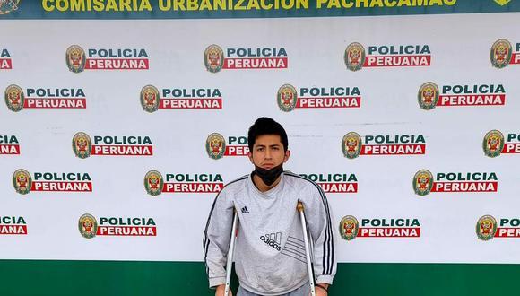 Leonardo Alcalde (20), dos veces campeón de skateboarding de torneos en Lima Sur, fue detenido por la Policía sindicado de vender pasteles con marihuana. (Foto: PNP)
