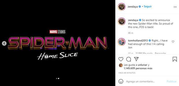 Spiderman 3: Tom Holland, Zendaya y Jacob Batalon trolean a los fans con el  posible nombre de la nueva película de Marvel | ESPECTACULOS | PERU21