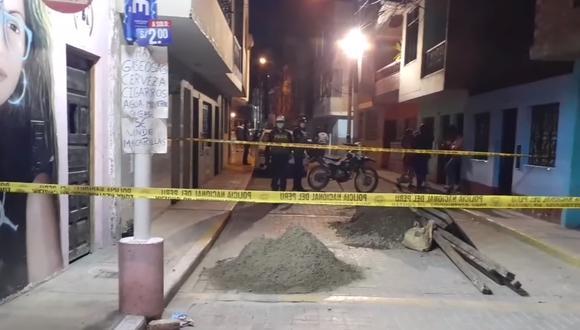 Amigos fueron atacados a tiros en esta calle la noche del martes en el Callao.