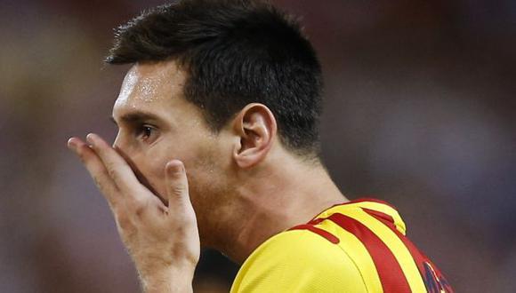 Messi no la pasa bien. (AP)