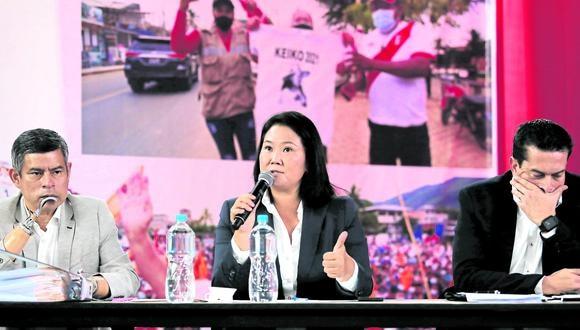 Fija postura. Fujimori se pronunció sobre plazos brindados por el JNE e hizo un llamado a la búsqueda de la verdad sobre las elecciones. (Foto: GEC)