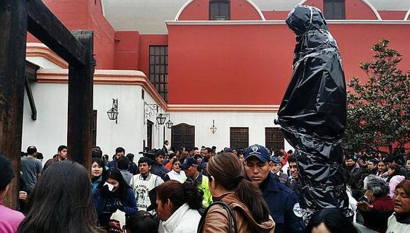 Así luce la imagen de Santa Rosa de Lima al pie del pozo de los deseos. (RPP en Facebook)