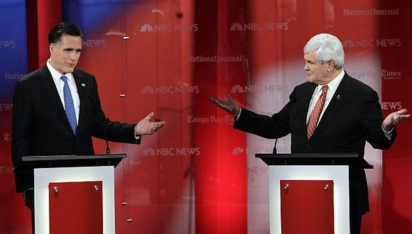 Romney logró poner contra las cuerdas a Gingrich en el último debate. (AP)