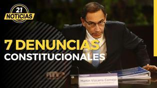Son 7 denuncias constitucionales contra Martín Vizcarra