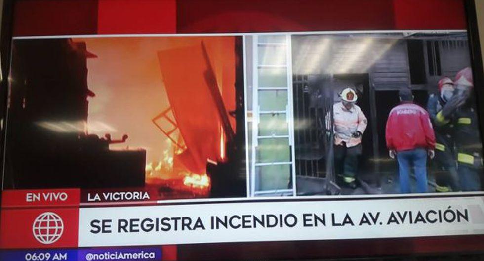 Incendio fue confinado. (Foto: Captura de pantalla)