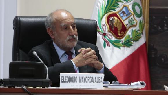 Eleodoro Mayorga tendrá que acudir al Parlamento. (Martín Pauca)
