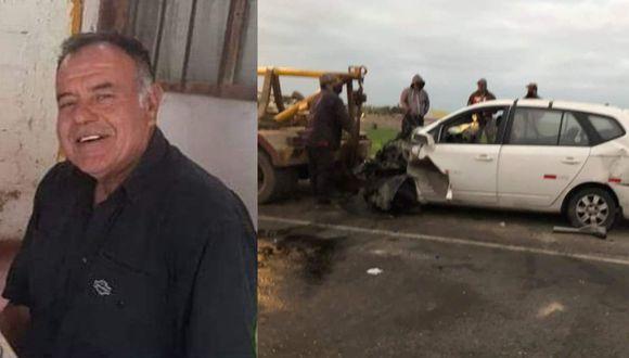 Arequipa: El fallecido fue identificado como Carlos Gustavo Aguayo Dávila (61), quien manejaba el automóvil de placa V7A-173, quien habría invadido el carril contrario.