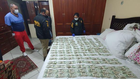 La Policía halló dinero en la casa de uno de los detenidos.