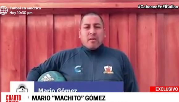 Mario 'Machito' Gómez dio clases virtuales de fútbol desde el patio de su casa a través de un video de mala calidad. (Cuarto Poder)