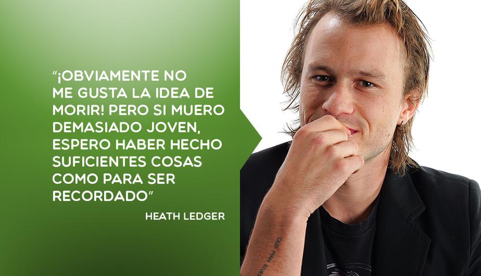 Heath Ledger: 10 de sus frases más famosas a 7 años de su muerte. (Perú21/AFP)