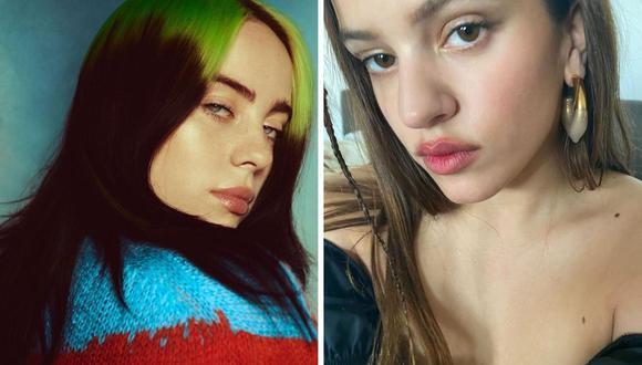 Rosalía y Billie Eilish anunciaron en redes sociales que el 21 de enero estrenan su primer tema juntas.  (Foto: Instagram / @billieelish / @rosalia.vt)