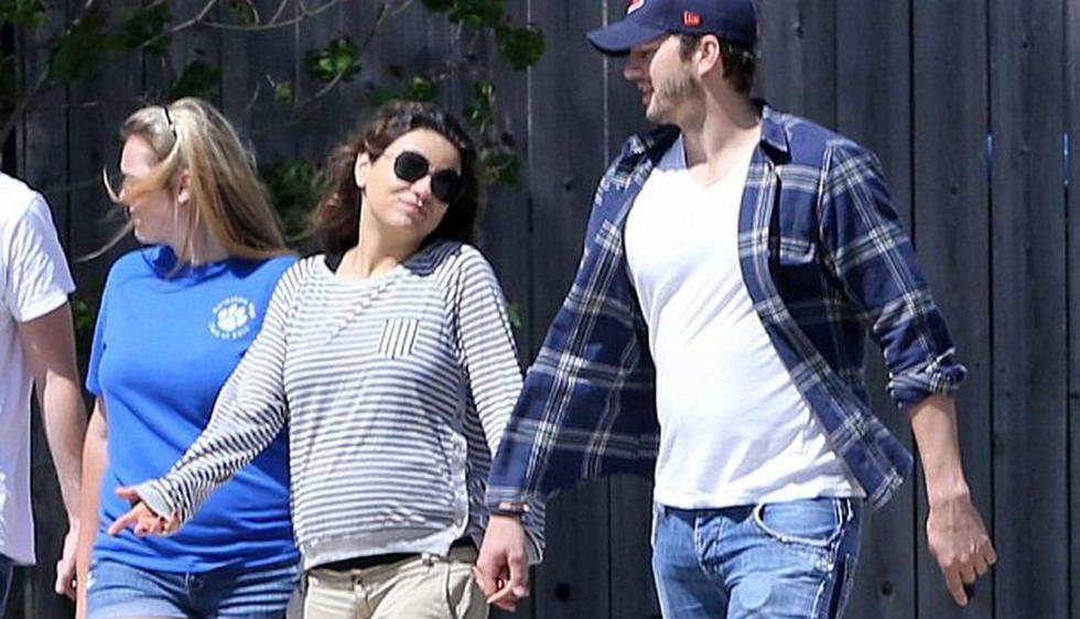 Con estas fotos se confirma el embarazo de la actriz Mila Kunis, quien espera un bebé de Ashton Kutcher.  (Splash News/Daily Mail)