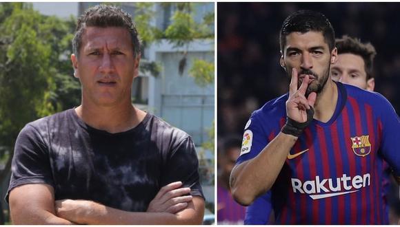 El saludo de Luis Suárez que sorprendió a Flavio Maestri. (Foto: GEC - AP )