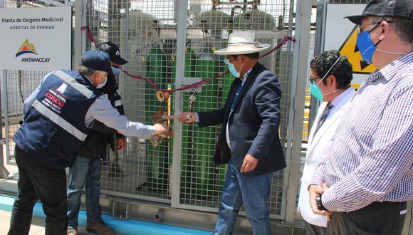 Acaba de entrar en funcionamiento una planta de oxígeno medicinal para el Hospital de Espinar (Cusco)