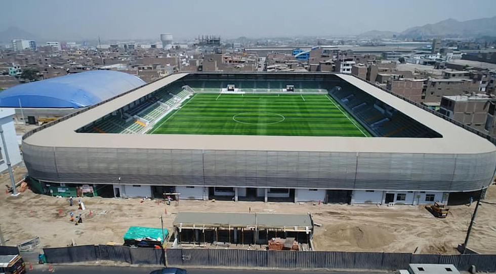 El estadio Municipal de Ate será inaugurado el próximo 20 de diciembre. (Foto: Facebook Óscar Benavides Majino - Página Personal)