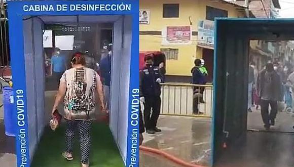 La Libertad: Cabinas de desinfección contra el COVID-19 podrían causar irritación en ojos y piel