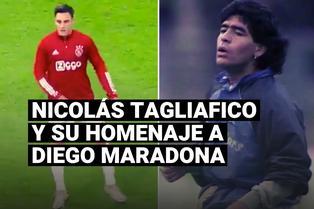 El particular homenaje de Nicolás Tagliafico a Diego Maradona