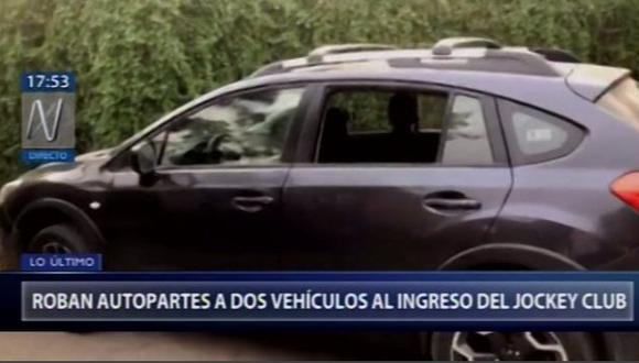 Humberto Caro detalló que los hampones rompieron las lunas de su camioneta y se llevaron un maletín, que contenía una laptop y sus pertenencias. (Canal N)