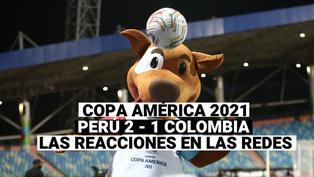 Copa América 2021: Las reacciones de las redes sociales por la victoria de Perú ante Colombia 2-1