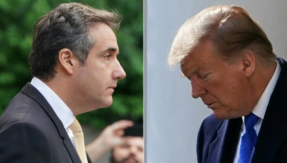 """El ex abogado de Donald Trump, Michael Cohen, dijo al Congreso que el presidente es un """"racista"""" y """"estafador"""" y que sabía de antemano que WikiLeaks publicaría noticias sobre Hillary Clinton. (Foto: AFP)"""