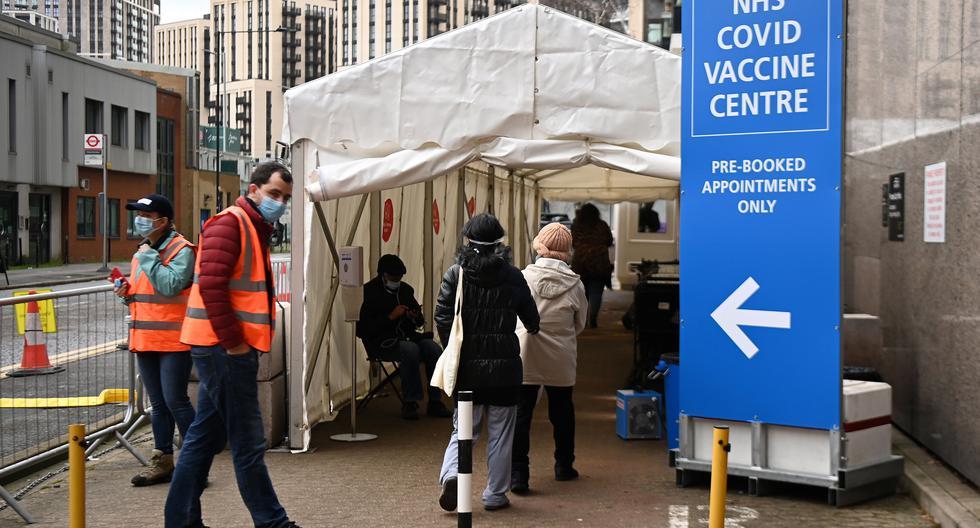 Imagen de la vacunación en Londres, Reino Unido. (Foto: EFE)
