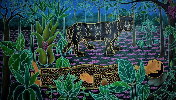 La exposición se inaugura el 24 de marzo. Samatai Jonin Nama (el sueño del hombre dietador). Óleo sobre lienzo (Foto: Alianza Francesa de Lima)
