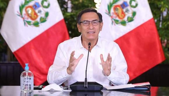 Martín Vizcarra en uno de sus pronunciamientos por las pandemia. (Palacio de Gobierno)