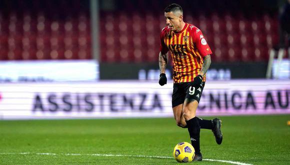 Gianluca Lapadula es el máximo goleador del Benevento con ocho tantos. (Foto: EFE)