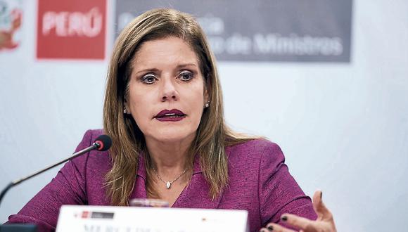 Premier Mercedes Aráoz exige respeto a la figura presidencial. (USI)