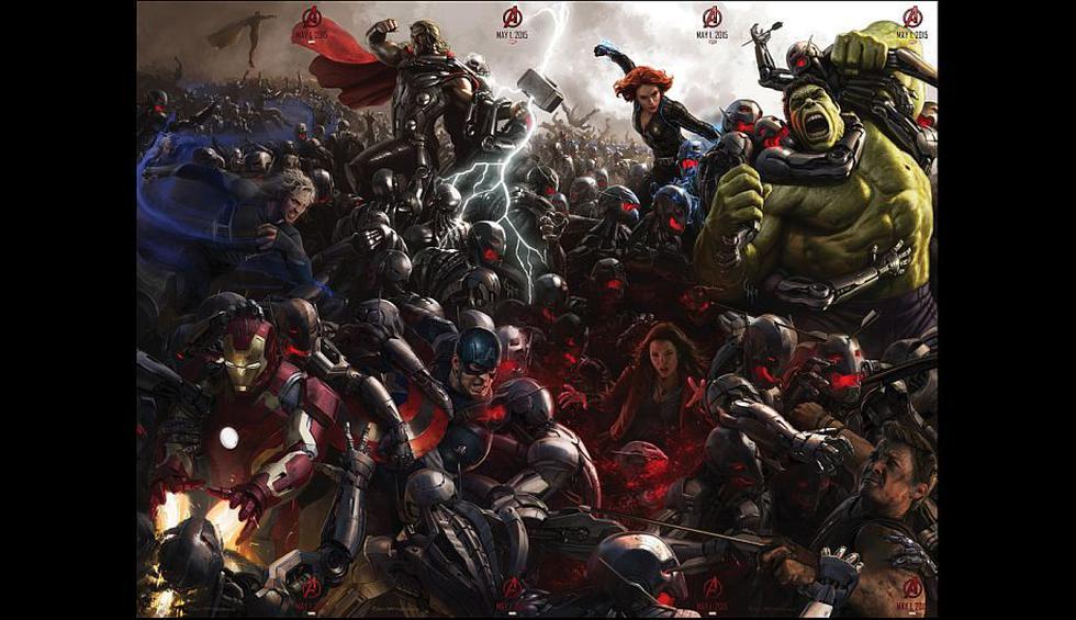 La imagen completa de los superheróes de 'The Avengers: Age of Ultron'. (Marvel)