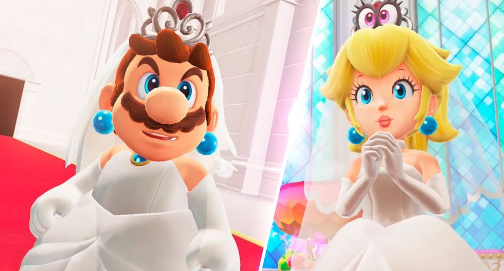 Y es que los 'gamers' de todo el mundo se encuentran sorprendidos al ver a Mario Bros vestido de novia en una nueva expansión del juego para la consola Nintendo Switch. (Nintendo)