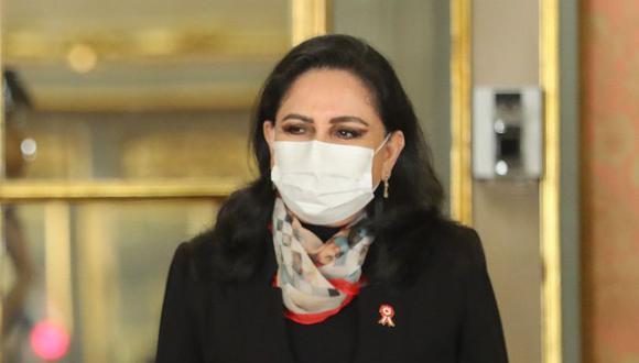 La ministra de la Mujer, Gloria Montenegro, pidió a las instituciones trabajar de manera articulada para seguir con la búsqueda de otras mujeres que aún no retornar a sus hogares. (Foto: Presidencia Perú)