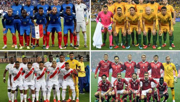 Grupo de Perú en Rusia 2018: Conozca a cada uno de los países. (EFE)