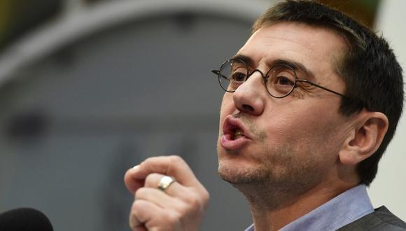 Juan Carlos Monedero lanzó reproches en entrevista. (AFP)