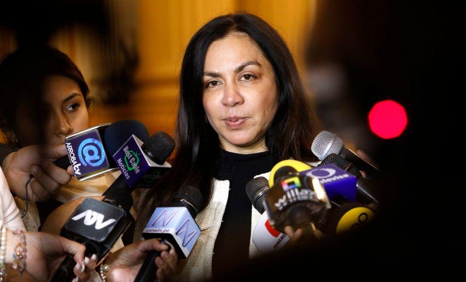 La exvicepresidenta fue expulsada de Alianza para el Progreso por el presidente de dicha agrupación, César Acuña. (Foto: GEC)