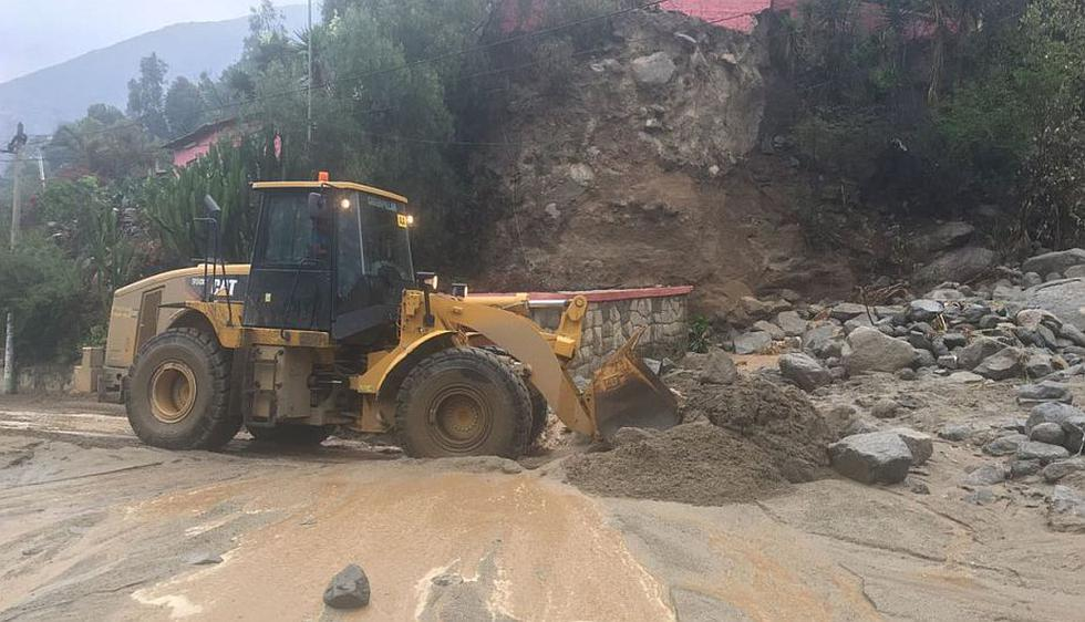 Carretera Central: Tránsito restringido por nuevos huaicos en Santa Eulalia y Chosica. (Indeci)