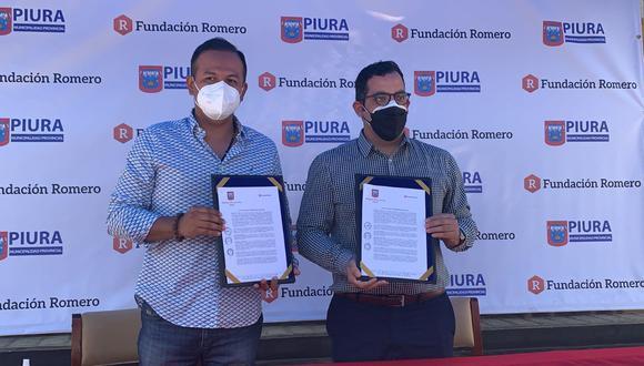 La Fundación Romero, del Grupo Romero entregó a la Municipalidad Provincial de Piura 10 mil becas en cursos virtuales de su proyecto de educación digital, Campus Virtual Romero. El acta de intención vinculante se firmó hoy.