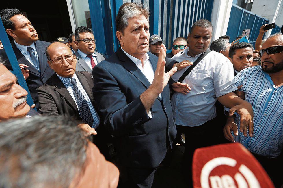 CONFIADO. Alan García está seguro de que nadie lo podrá señalar como beneficiario de un soborno.