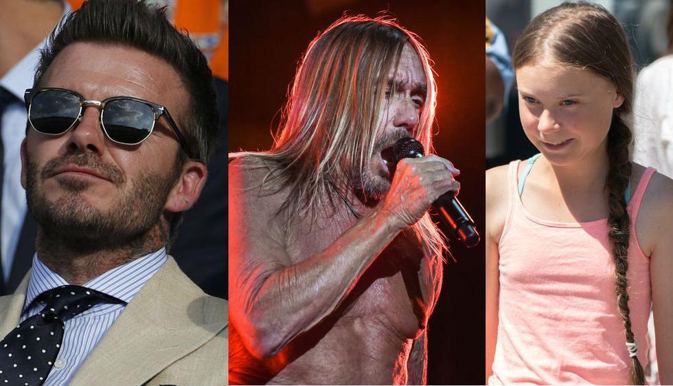 David Beckham, Iggy Pop y Greta Thunberg recibieron premios en los GQ en Londres. (Foto: Composición AFP)