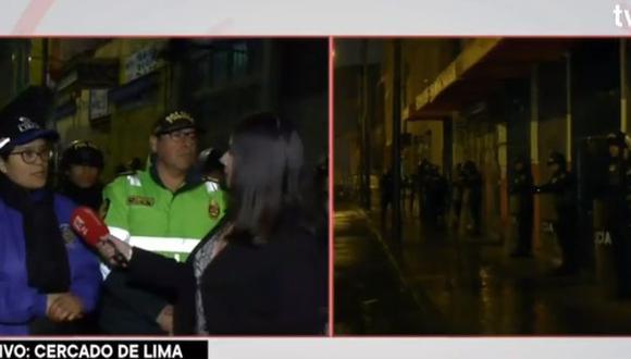 Municipalidad de Lima realizó operación para recuperar espacios públicos en Mesa Redonda. (Captura: TV Perú)